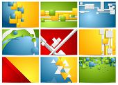 Colorful bright technology backgrounds. Vector collection