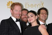 LOS ANGELES - AUG 25:  Jesse Tyler Ferguson, Ariel Winter at the 2014 Primetime Emmy Awards - Press
