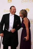 LOS ANGELES - AUG 25:  Kevin Spacey at the 2014 Primetime Emmy Awards - Arrivals at Nokia Theater at