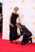 LOS ANGELES - AUG 25:  Felicity Huffman, William H. Macy at the 2014 Primetime Emmy Awards - Arrival