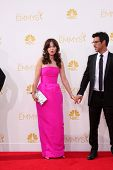 LOS ANGELES - AUG 25:  Zooey Deschanel, Jacob Pechenik at the 2014 Primetime Emmy Awards - Arrivals at Nokia Theater at LA Live on August 25, 2014 in Los Angeles, CA