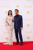 LOS ANGELES - AUG 25:  Camila Alves McConaughey, Matthew McConaughey at the 2014 Primetime Emmy Awar
