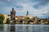 view on the Prague ,Charles bridge