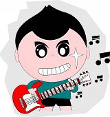 Guitarist Cartoon Action