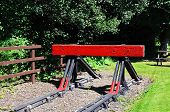 Railway buffer stop, Highley.