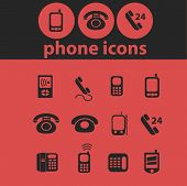 phone, retrophone, smartphone, call service, link isolated icons, signs, symbols, illustrations, sil