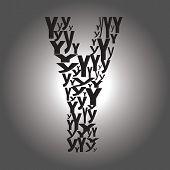 Letter Y. Vector Illustration