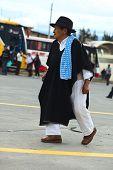 Man in Traditional Clothes in Ambato, Ecuador