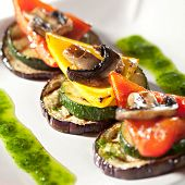 Grilled Foods - Vegetables with Sauce