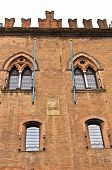 image of ferrara  - Architectural and heraldry details on castle Estense - JPG