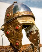 Roman Helmet, Worn
