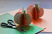 Paper Pumpkin With Scissors