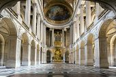 Versailles, France - JUN 20: Interior of royal chapel at Chateau de Versailles (Palace of Versailles