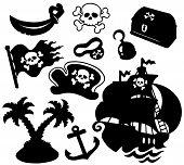 Coleção de silhuetas de pirata