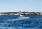 Ferry Leaving Halifax Harbor