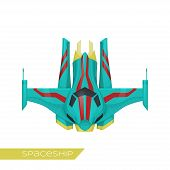 foto of spaceships  - spaceship class frigate without arms on a white background - JPG