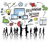 Responsive Design Internet Web Online Business Handshake Concept