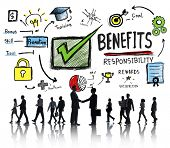 Benefits Gain Profit Earning Income Business Handshake Concept