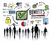 Benefits Gain Profit Earning Income Business People Concept