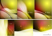 Set of abstract shining backgrounds, color and shadow design business corporate templates