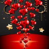 stock photo of san valentine  - San Valentines Day background for dinner invitations - JPG