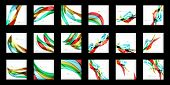 Large set of abstract backgrounds, wave and angular shapes