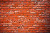 Old grunge brick wall background