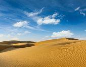 foto of dune  - Dunes of Thar Desert - JPG