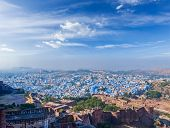 Aerial panorama of Jodhpur, also known as