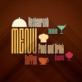Restaurant menu design. Flat design