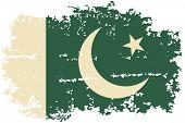 stock photo of pakistani  - Pakistani grunge flag - JPG