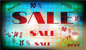 Layout with text sale, best, offer, big, background - bright circles