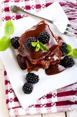 Chocolate And Blackberry Slices
