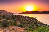 Постер, плакат: Sunrise at Mirabello Bay on Crete Greece