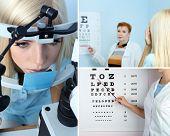 Health care, medicine and vision concept