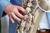 picture of saxophone player  - Picture of a man Playing The Saxophone - JPG