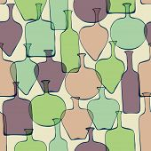 Seamless Abstract Decorative Pattern With Doodle Bottes