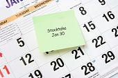 Post-it Note On Calendar