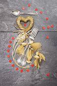 Valentine's dinner concept