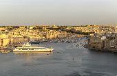 Vittoriosa yacht marina sunset panorama