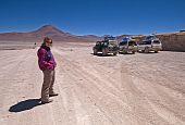Mujer en el desierto boliviano