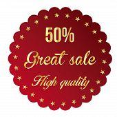 50% sales label