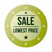 Round green sales label