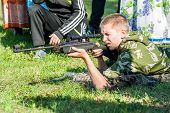 Young man took aim with air gun