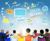 Social Network Social Media People Connection Friendship Concept