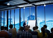 image of speaker  - Business People Meeting Conference Speaker Presentation Concept - JPG