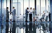 Business People Board Room Meeting Handshake Communication Concept