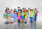 Group Kids Children Diversed Casual Together Global Concept
