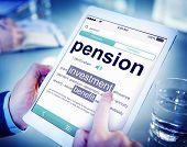 Pension Retirement Income compensation Office Business Concept