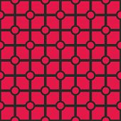 Tile vector pink and black pattern or simple geometric background wallpaper